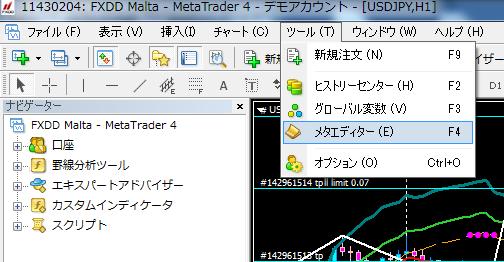 MT4インジケーターコンパイル1